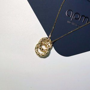Apm Monaco Staggered Circle Gold Necklace